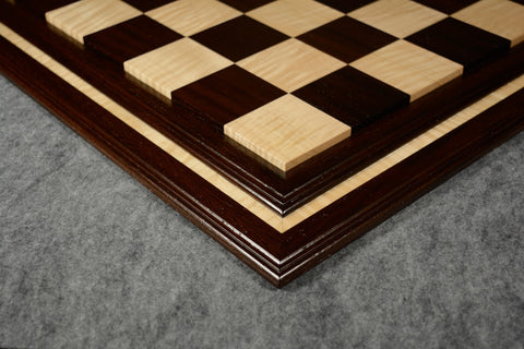 "Wenge and Curly Maple Tradition II Chessboard #WCM03092017-NM-03- 2 1/2"" (MADE IN USA)"