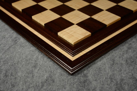 "Wenge and Curly Maple Tradition II Chessboard #WCM03092017-NM-01- 2 1/2"" (MADE IN USA)"
