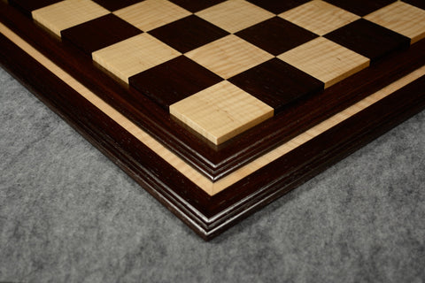 "Wenge and Curly Maple Tradition II Chessboard #WCM03092017-NM-02- 2 1/2"" (MADE IN USA)"