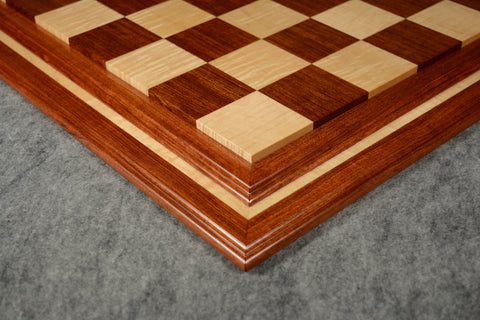 "Bubinga and Curly Maple Tradition II Chessboard #BBCM03092017-NM-04 - 2 1/2"" (MADE IN USA)"