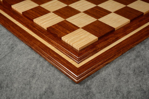 "Bubinga and Curly Maple Tradition II Chessboard #BBCM03092017-NM-03 - 2 1/2"" (MADE IN USA)"