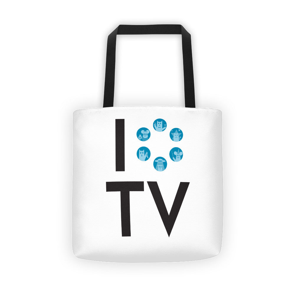 I Love TV Tote Bag