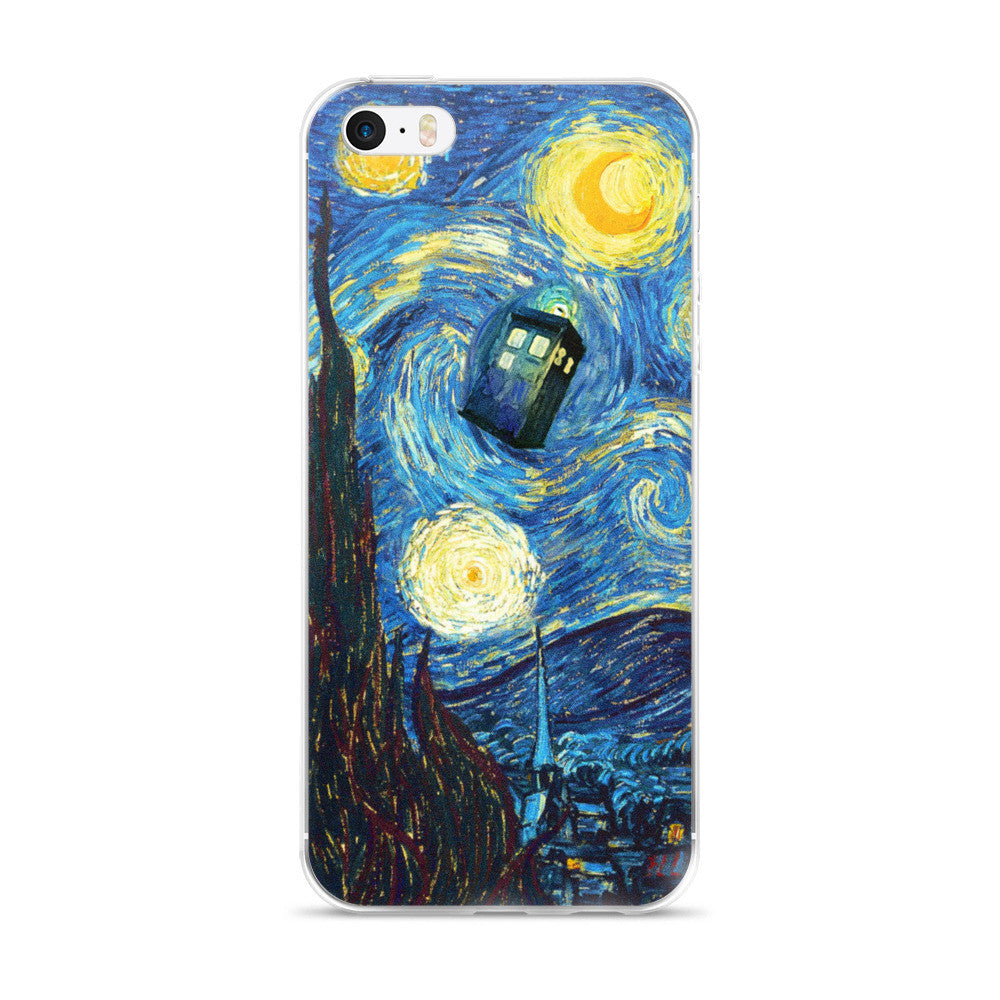 Doctor Who Starry Night iPhone 5/5s/Se, 6/6s, 6/6s Plus Case