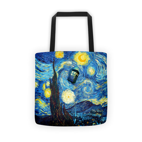 Doctor Who Starry Night Tote bag