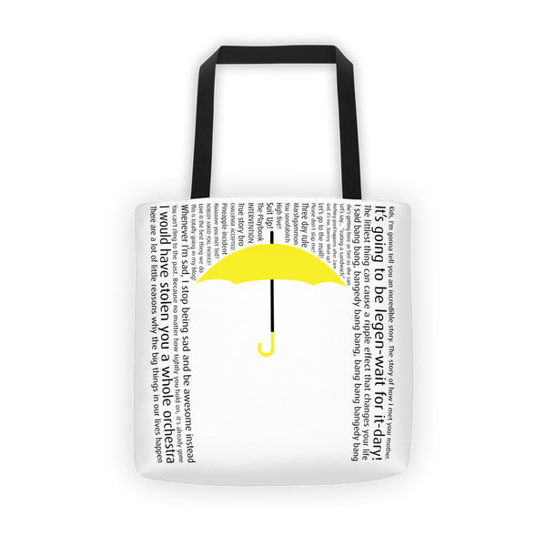 Yellow Umbrella Tote Bag