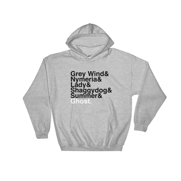 Direwolves Helvetica Hooded Sweatshirt