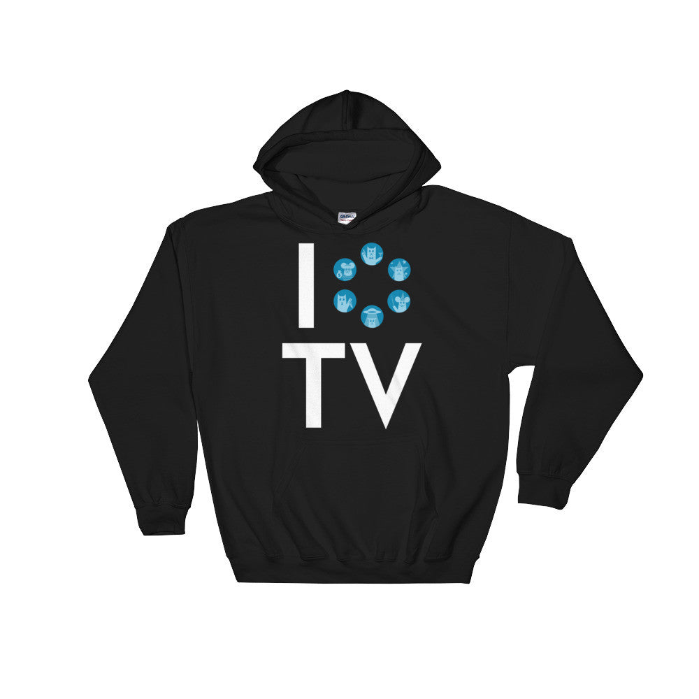 I Love TV Hooded Sweatshirt