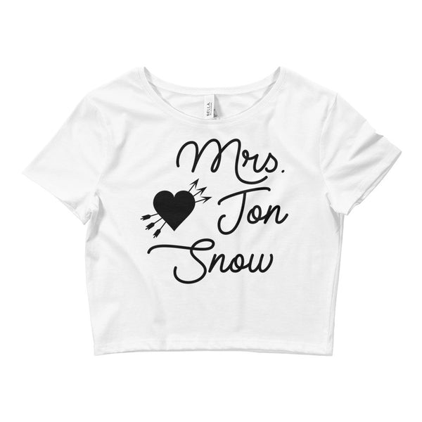 Mrs. Jon Snow Women's Crop Tee