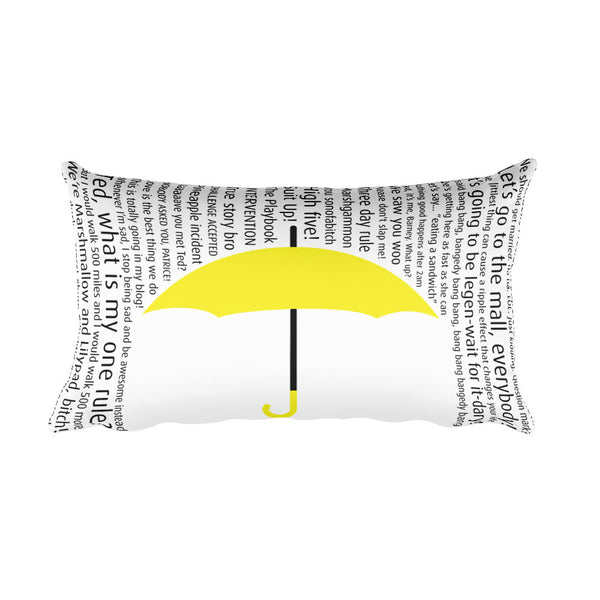 Yellow Umbrella Pillow