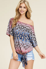 *NEW* Debbie Cheetah Colorful Dolman Top ~ Multi