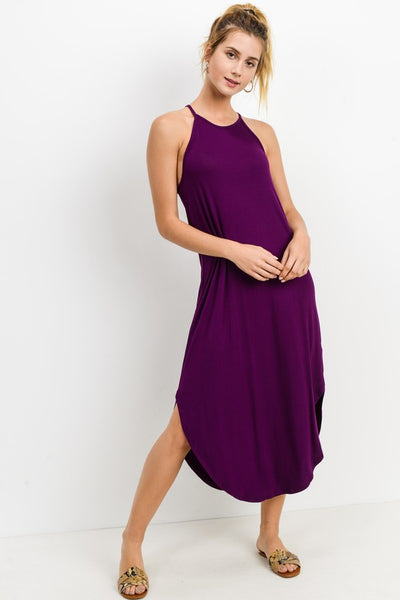 Sadie Maxi Dress ~ Plum