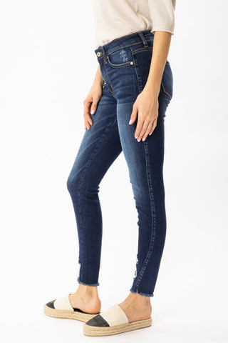 *NEW* Kancan Kandi Mid Rise Ankle Skinny Jeans