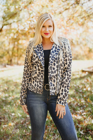 *NEW* Mali Stretch Jacket ~ Leopard