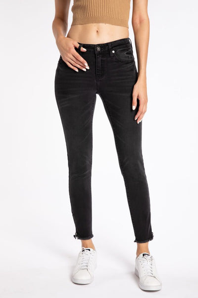 Kancan June Mid Rise Ankle Skinny ~ Dark Gray
