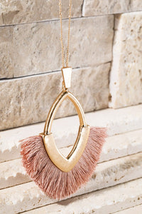 {Last Chance} Tallie Hammered Tassel Necklace ~ Multi *FINAL SALE*