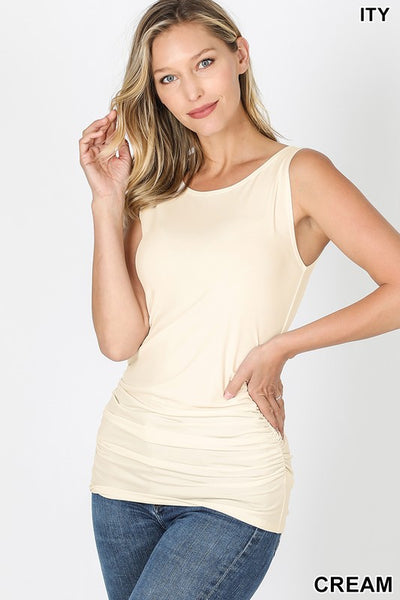 *NEW* Adelyn Sleeveless Ruched Tank Top**AMAZING DEAL ~ FINAL SALE**