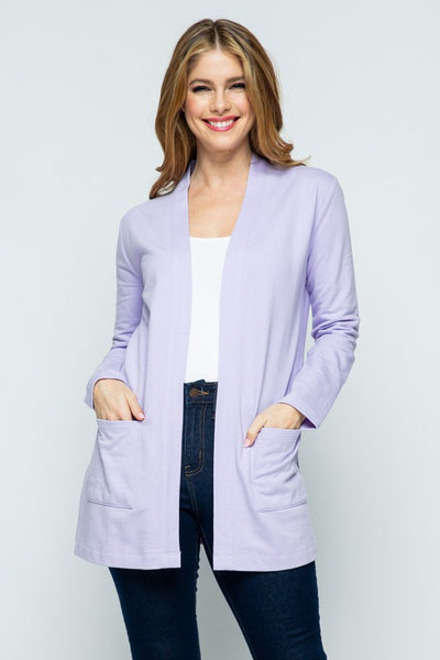 {Last Chance} Heather Teacher Long Knit Cardigan with Pockets ~  *FINAL SALE*
