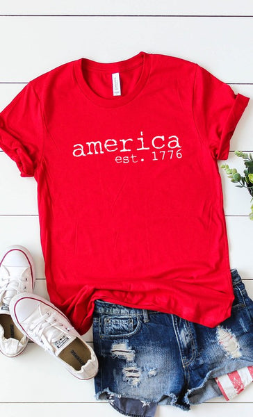 *NEW* America est 1776 Graphic Tee