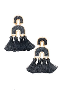 Valerie Earrings ~ Black