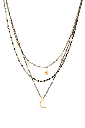 *New* Candace Necklace ~ Black & Gold