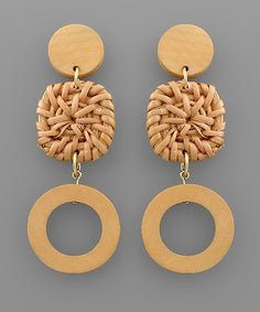 Double Layer Woven Drop Earrings