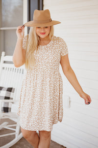 *NEW* Kathleen Animal Print Babydoll Dress