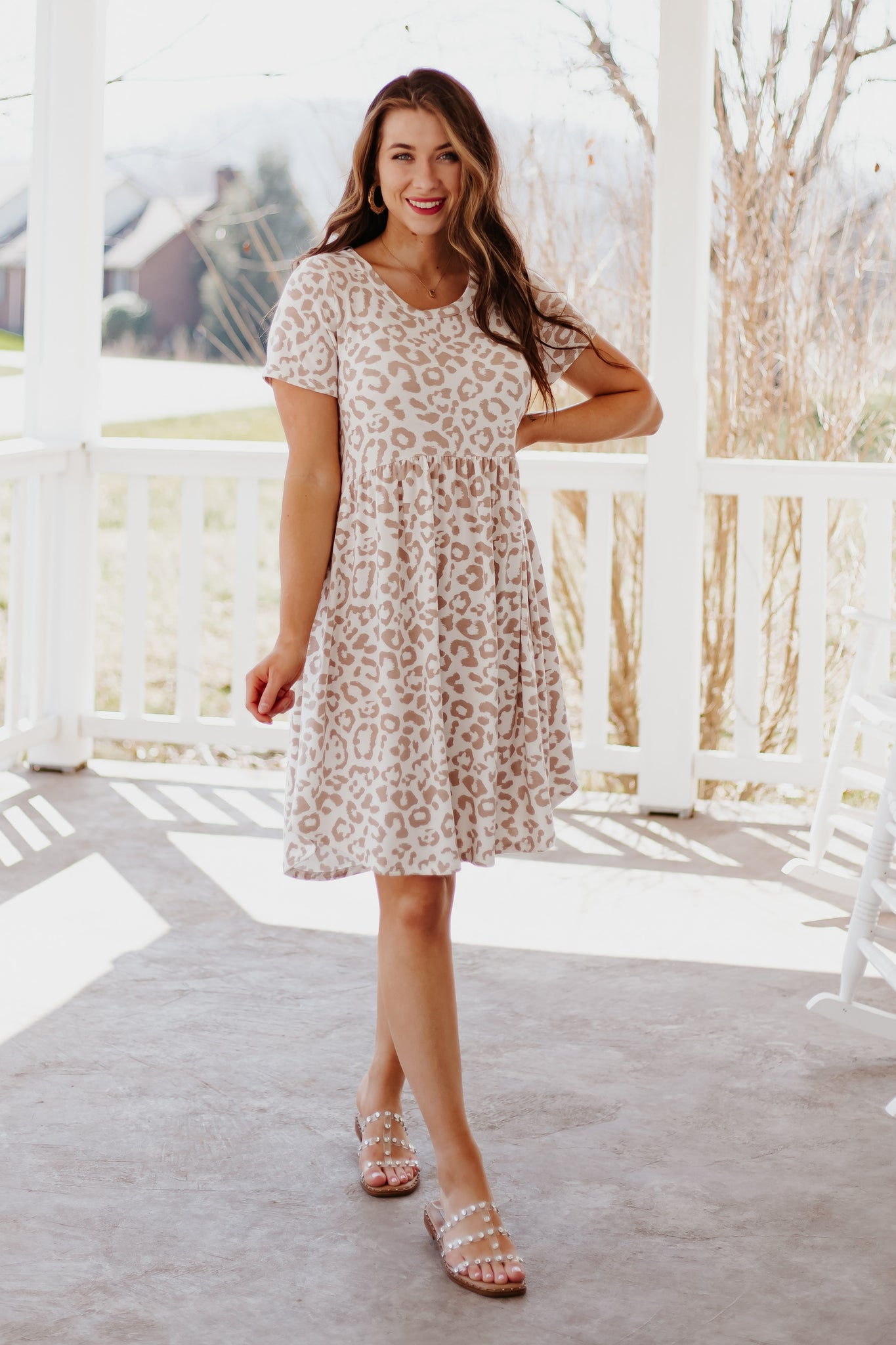 *NEW* Makayla Babydoll Leopard Dress