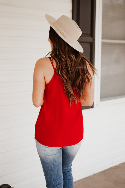 *NEW* Belinda Button Tank ~ Red