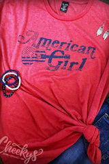 {LAST CHANCE} American Girl Vintage Red Graphic Tee ~ Cheeky's