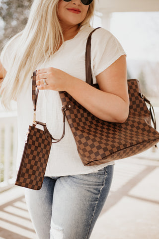 Harley Checkered Oversized On The Go Tote