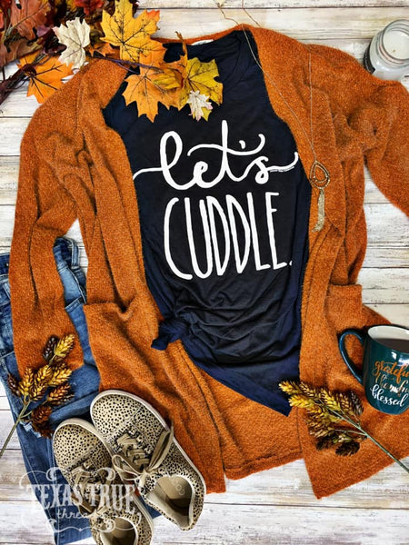 {Last Chance} Let's Cuddle Graphic Tee ~ Dark Grey *FINAL SALE* - Be You Boutique