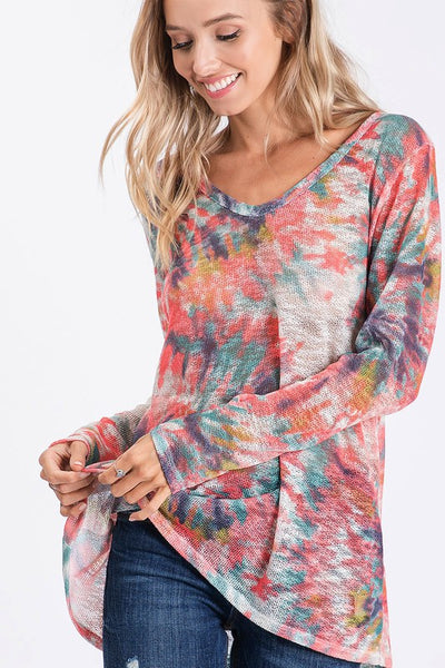 *NEW* Mckinley Tie-Dye Knit Top