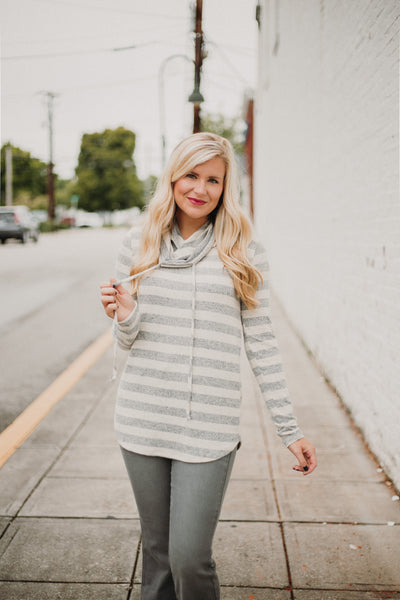 *NEW* Cate Cowl Neck Top ~ Oatmeal