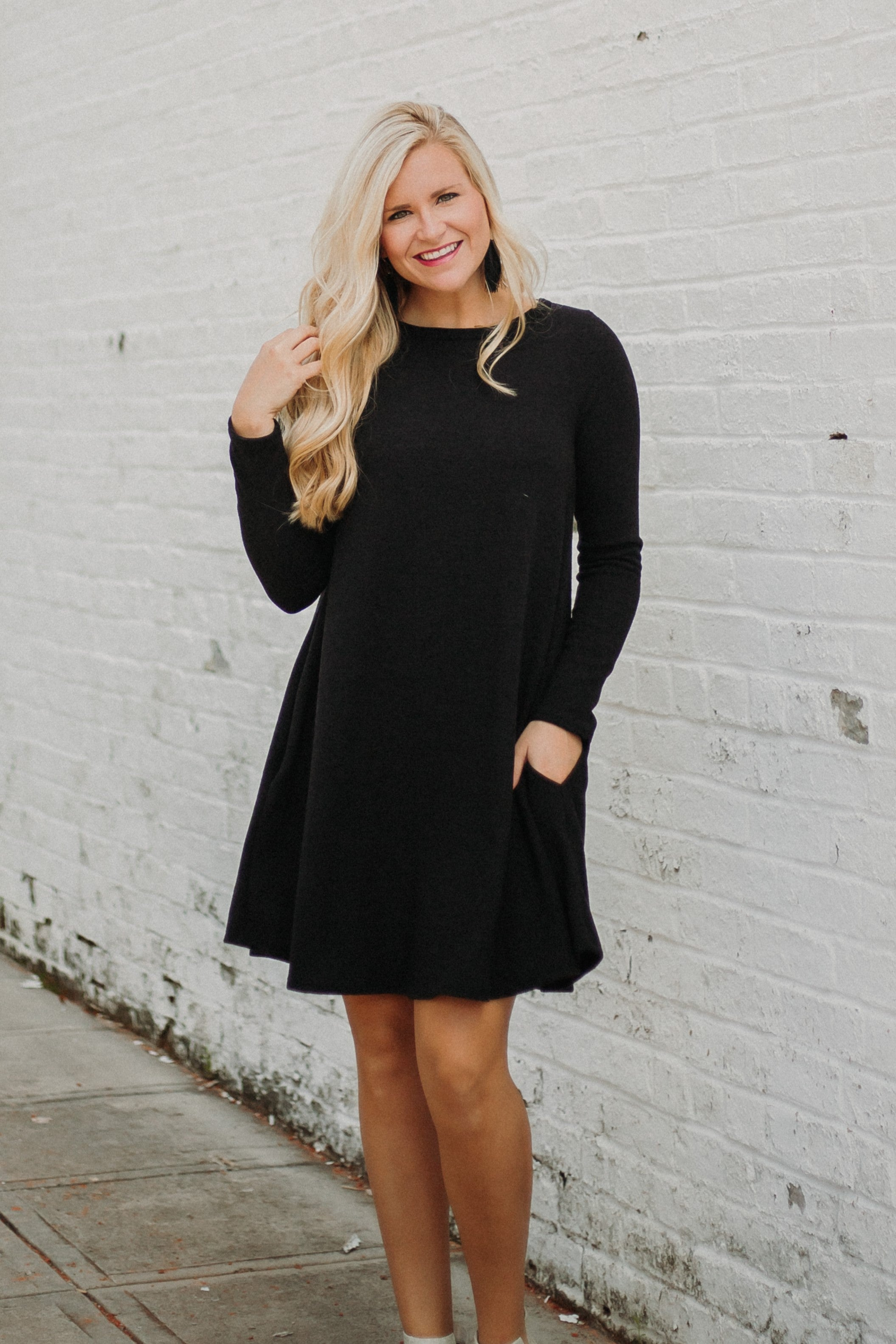30d03e62f1 PIKO Easy Goes It Dress  Tunic ~ Black – ShopBeYouBoutique