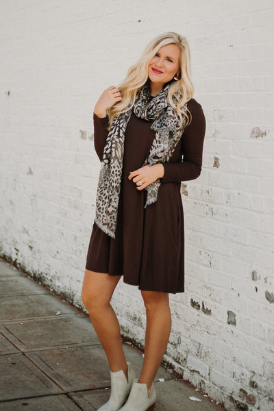 *NEW* PIKO Easy Goes It Dress/ Tunic ~ Dark Brown