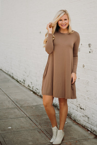 {LAST CHANCE}  Easy Goes It Dress/ Tunic ~ Brown