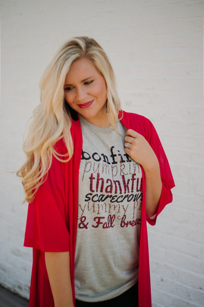 *NEW* FALL Saying Tee