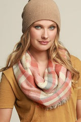 *NEW* Fall Vibes Infinity Scarf ~ Charcoal & Pink