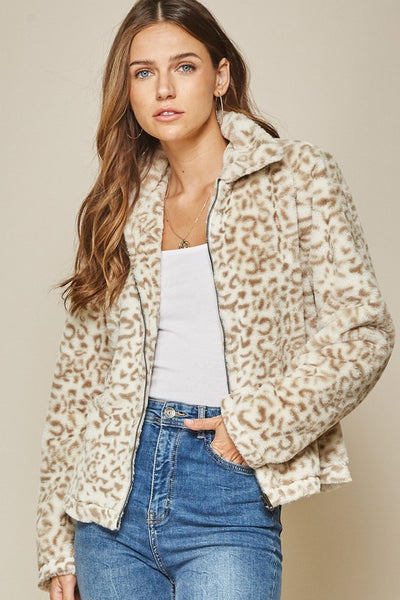 Wynter Leopard Zip Up Jacket