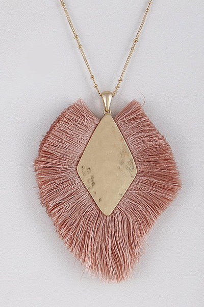 {Last Chance}  Fringed Tassel Necklace