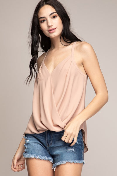 Ollie Overlap Tank ~ Champagne
