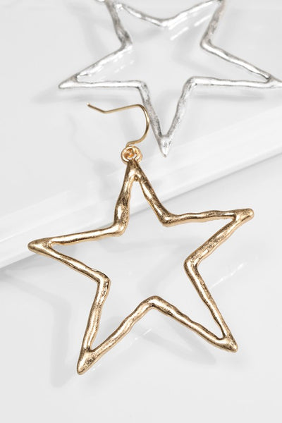 Oh My Stars Dangle Earrings ~ Gold & Silver