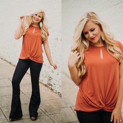 *NEW* Twisted Sister Twisted Front Top ~ Rust