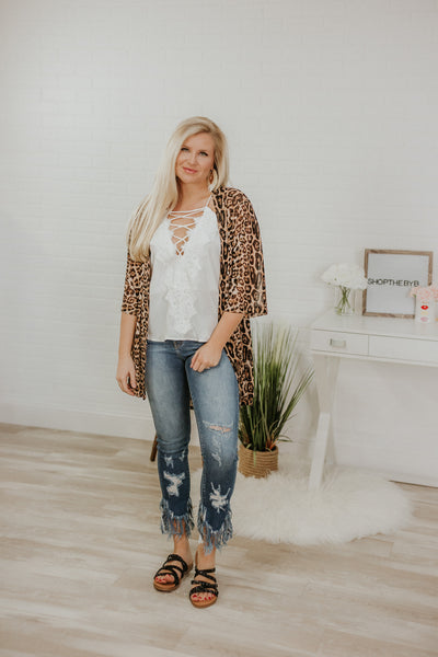 *New* Crazy Train Kitty Kitty Bang Bang Kimono ~ Animal Print - ShopBeYouBoutique