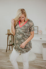 *NEW* Hide In The Sun Camo Top ~ Neon Pink