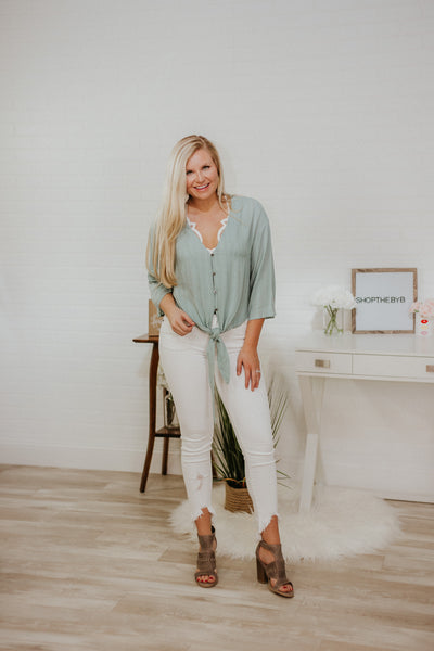 {Last Chance} Juniper Breezes Kimono Tie Top ~ Juniper