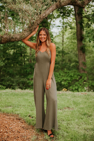 *NEW* Joyful Easy To Wear Jumpsuit ~ Olive