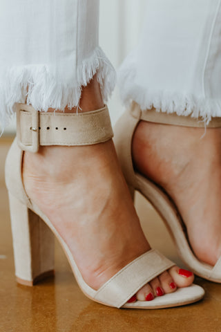 *NEW* Holly Strap Heels ~ Taupe