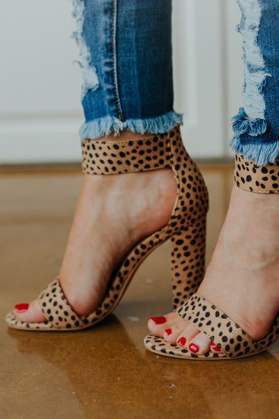 Holly Strap Heels ~ Cheetah