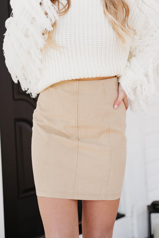 *NEW* Sophia Khaki Skirt